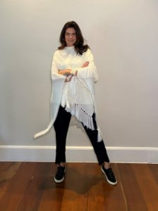 Poncho Pérola Off White