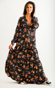 Vestido Longo Betina Buquê