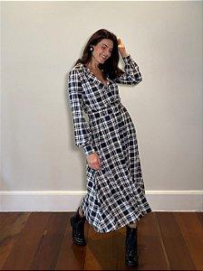 Vestido Midi Celina Tartan