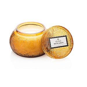 Vela pote de vidro Chawan 50H Baltic Amber
