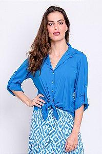 Camisa Cássia Azul Porto