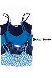 Top Cleo Azul Porto