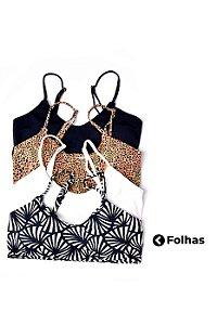 Top Cleo Folhas