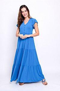 Vestido Midi Liz Azul Porto