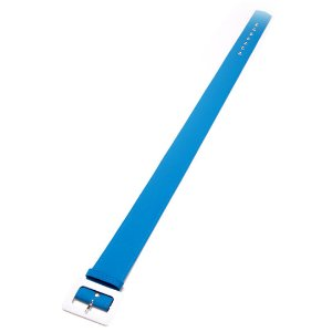 Cinto forrado Azul porto com Detalhes Off White