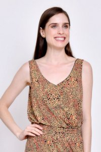 Regata Eduarda ( Double Face ) Animal Print/Preto