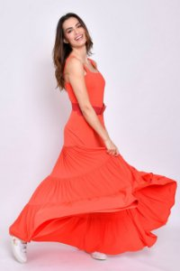Vestido longo Hanna Pitanga