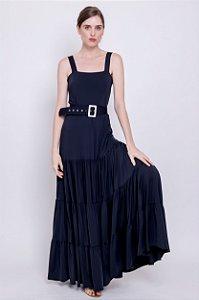 Vestido longo Hanna Preto