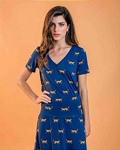 Camiseta Camile Leopardo