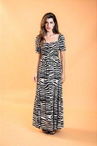 Vestido Longo Dandara Zebra