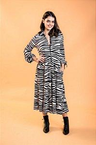 Vestido Midi Deise Zebra