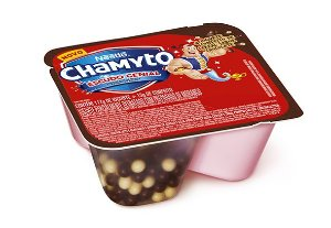 CHAMYTO IOGURTE DE MORANGO COM CEREAIS DE CHOCOLATE