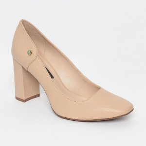 Sapato Em Couro Texturizado Bege Claro Jorge Bischoff