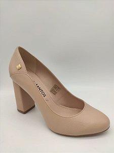 Sapato Em Couro Texturizado Bege Claro Loucos & Santos