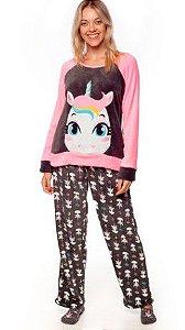 Pijama Adulto Soft Puket Unicórnio