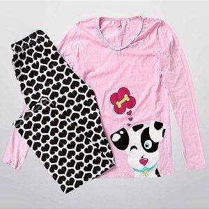 Pijama Manga Longa Malha Puket