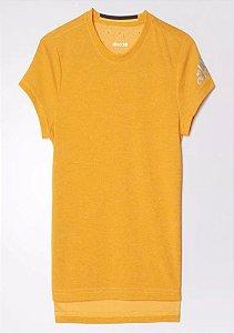 Camiseta Adidas Infantil Climachill Efeito Refrescante Laranja