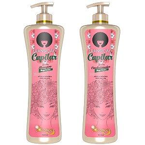 Shampoo e Condicionador Transição Capilar Low Poo Mega Cachos para cacheadas 2x1000ml