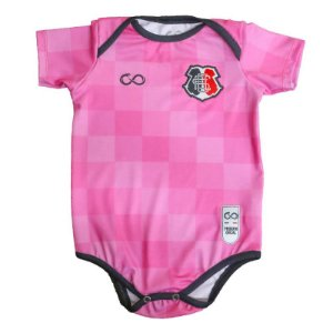 Body Infantil Santa Cruz Rosa com Pantufa