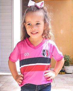Camisa Rosa Infantil Santa Cruz