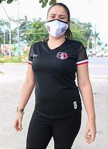 Camiseta Santa Cruz Preta Tela Mesh Feminina