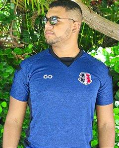 Camisa Azul Mescla Fit Cobra Coral