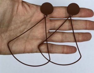 Brinco pendulo Vazado - Marron