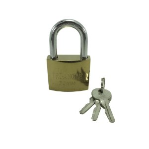 Cadeado 50mm com 3 chaves - TRI-ANGLE