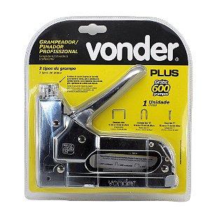Grampeador e pinador manual em chapa de aço cromado - Vonder