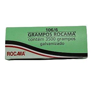 Grampos para Grampeador 106/6 3500pcs Rocama