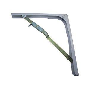 Suporte Dobrável para mesa de parede ou prateleira 30cm Branco