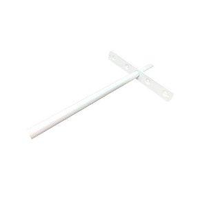 Suporte Invisível de embutir para Prateleiras 25 cm - Branco