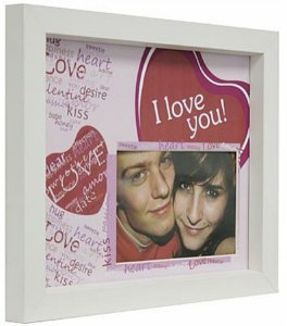 PORTA-RETRATOS IN LOVE P/ 1F 10X15CM I LOVE YOU
