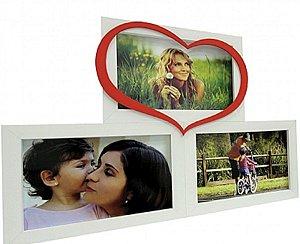 PAINEL LOVE PARA MESA 3F 10X15CM BRANCO C/ VERMELHO