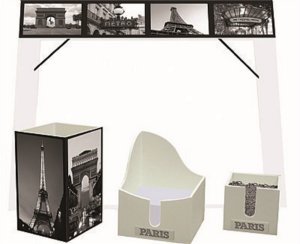 KIT OFFICE PARIS (1 RISQUE RABISQUE, PORTA LAPIS, PORTA CLIPS, PORTA BLOQUINHO)