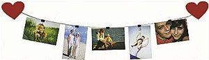PHOTOS ON THE LINE 85X30CM CORAÇÕES