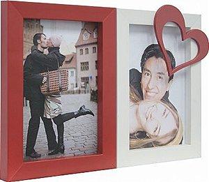 PAINEL LOVE P/ MESA 25X17CM P/ 2 FOTOS 10X15CM