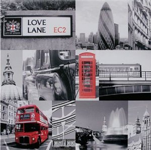 TELA DE CANVAS LONDRES LOVE LANE