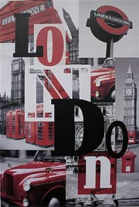 TELA DE CANVAS WORD LONDON