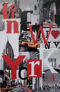 TELA DE CANVAS WORD NEW YORK