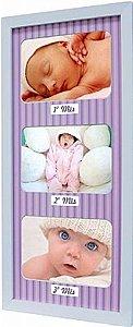 PAINEL PORTA-RETRATOS BABY LOVE COLOR P/ 3 FOTOS 10X15CM
