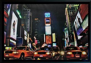 TELA DE CANVAS COM MOLDURA NEW YORK NIGHT