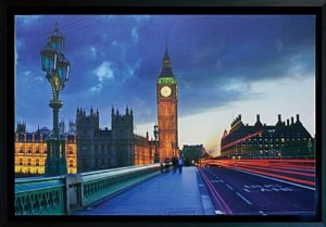 TELA DE CANVAS COM MOLDURA BIG BEN NIGHT