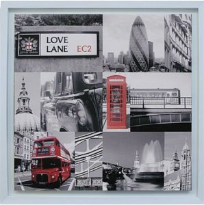 TELA DE CANVAS COM MOLDURA LONDRES LOVE LANE