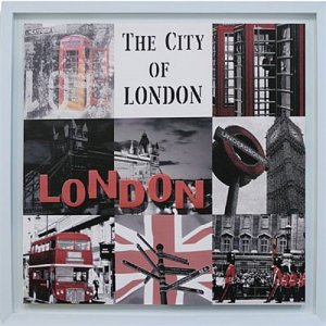 TELA DE CANVAS COM MOLDURA COLLECTION ENGLAND - THE CITY OF LONDON