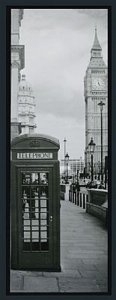 TELA DE CANVAS COM MOLDURA LONDON TELEPHONE