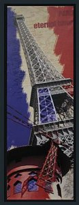 TELA DE CANVAS COM MOLDURA PARIS ETERNAL TOWER