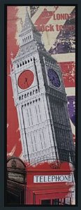 TELA DE CANVAS COM MOLDURA LONDON CLOCK TOWER