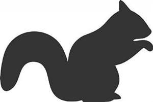 DECOR STICKER SQUIRREL
