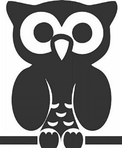 DECOR STICKER OWL